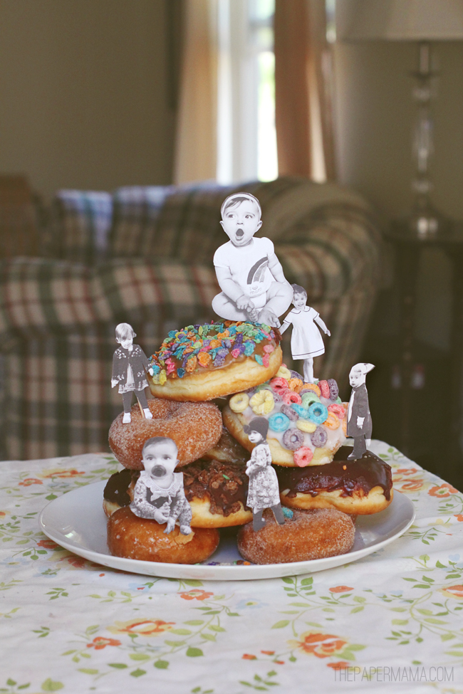 https://thepapermama.com/2013/05/a-mothers-day-doughnut-photo-tower.html