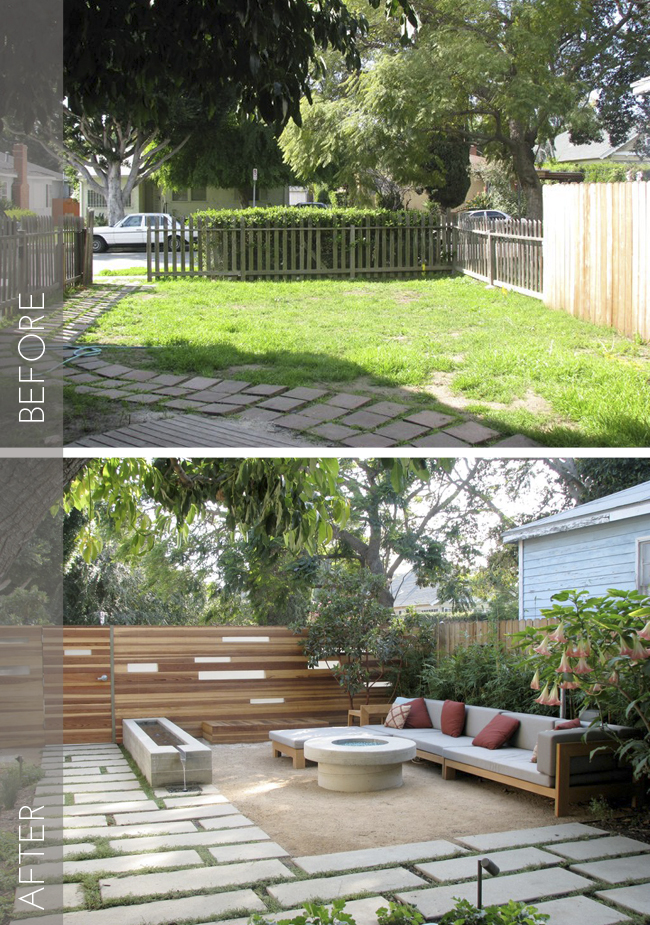 See how an architect transformed this barren front yard into a comfortable outdoor living room, found on the LA Times blog.