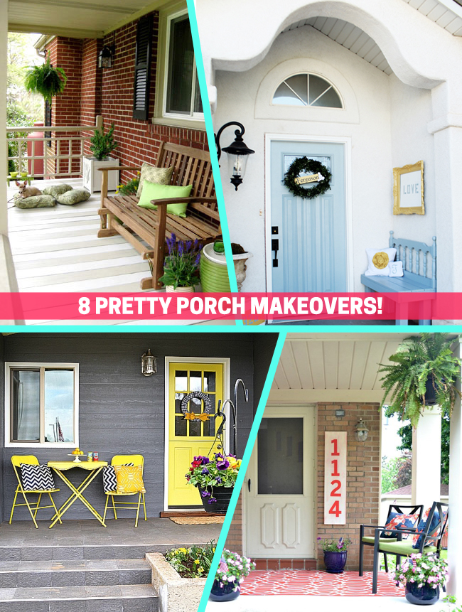Pretty Porch Makeovers To Inspire You - Front porch makeover ideas