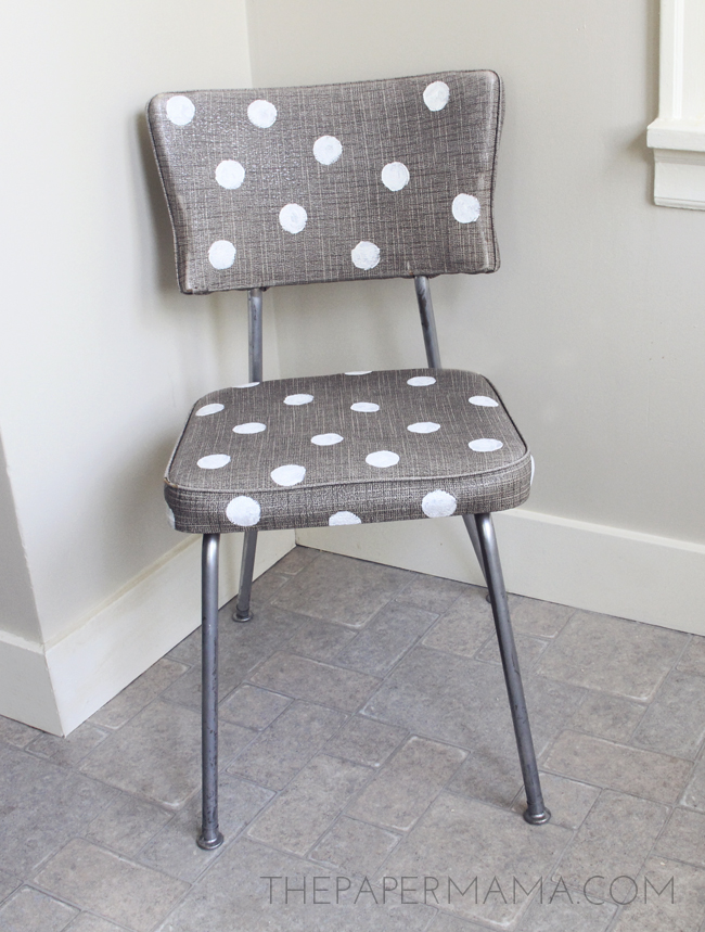 Gold Polka Dot Chair // thepapermama.com