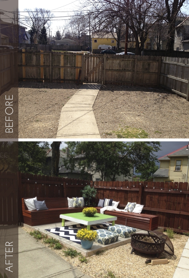 I love how this blogger broke down all the costs for their backyard makeover. Check out how they did this on a small budget! Found on Beginning in the Middle.