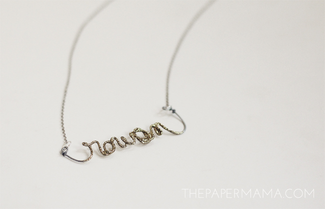 Day 2 of 50 DIY Days of Christmas: Glitter Wire Name!