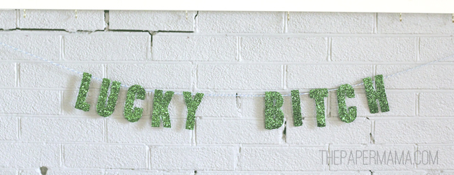 Lucky Bitch Garland // thepapermama.com