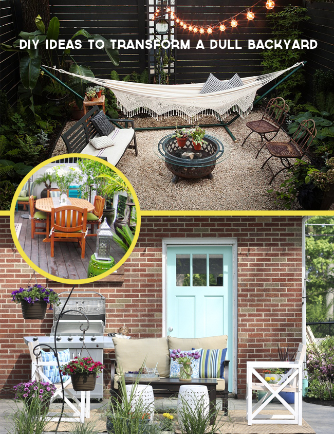 8 DIY Ideas to Transform a Dull Backyard or Patio on the Better Homes and Gardens blog.
