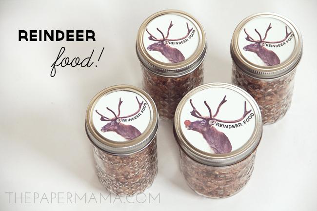 day 33 reindeer food jar labels