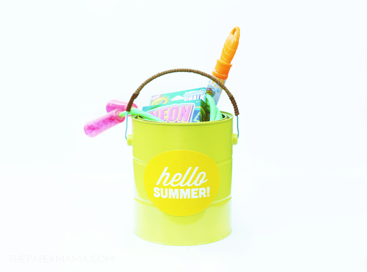 Summer Fun Storage Bucket DIY