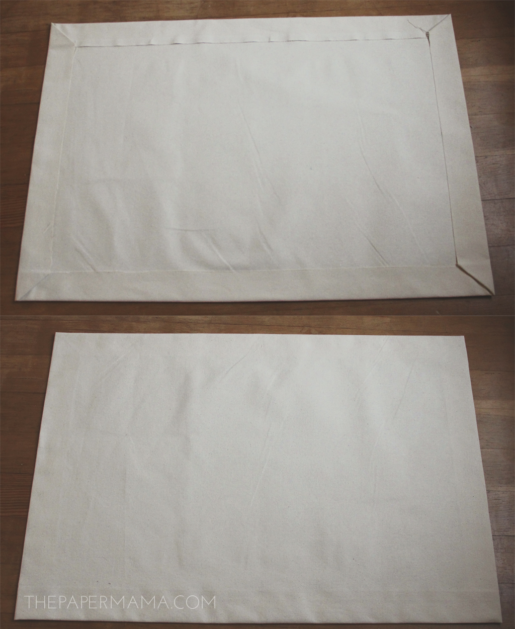 "No Sew ""I'm Home"" Floor Mat DIY with pattern!"