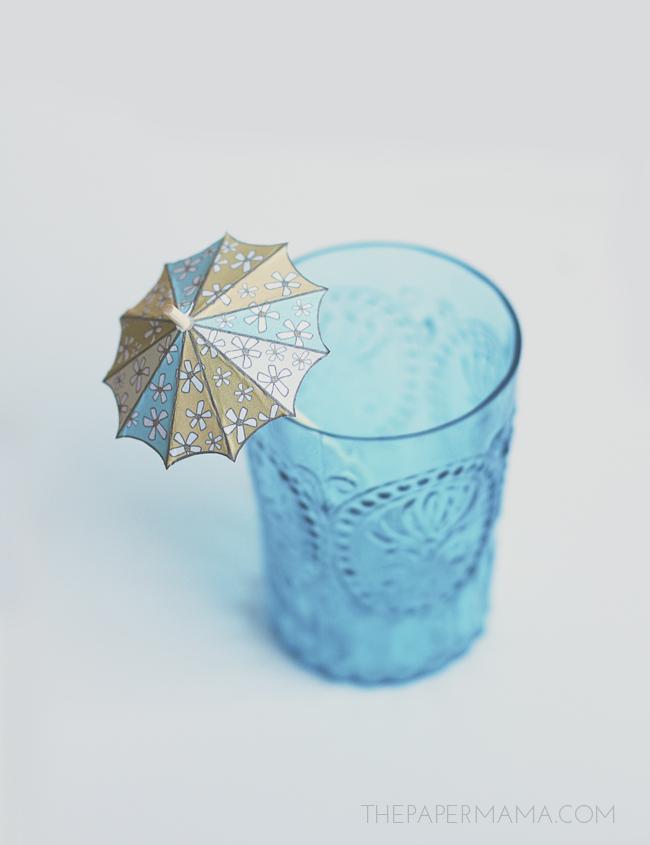Drink Umbrella Stirrer // thepapermama.com