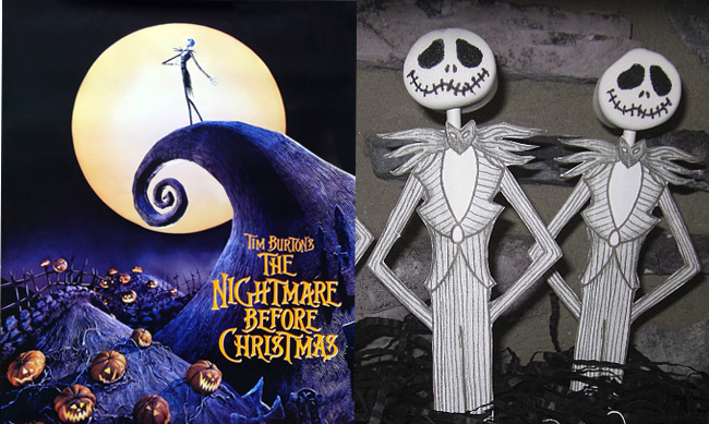Watch one of my favorites, The Nightmare Before Christmas, and enjoy Jack Skellington Pops (on The Party Animal Blog).