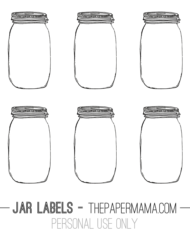 Jar Labels // thepapermama.com