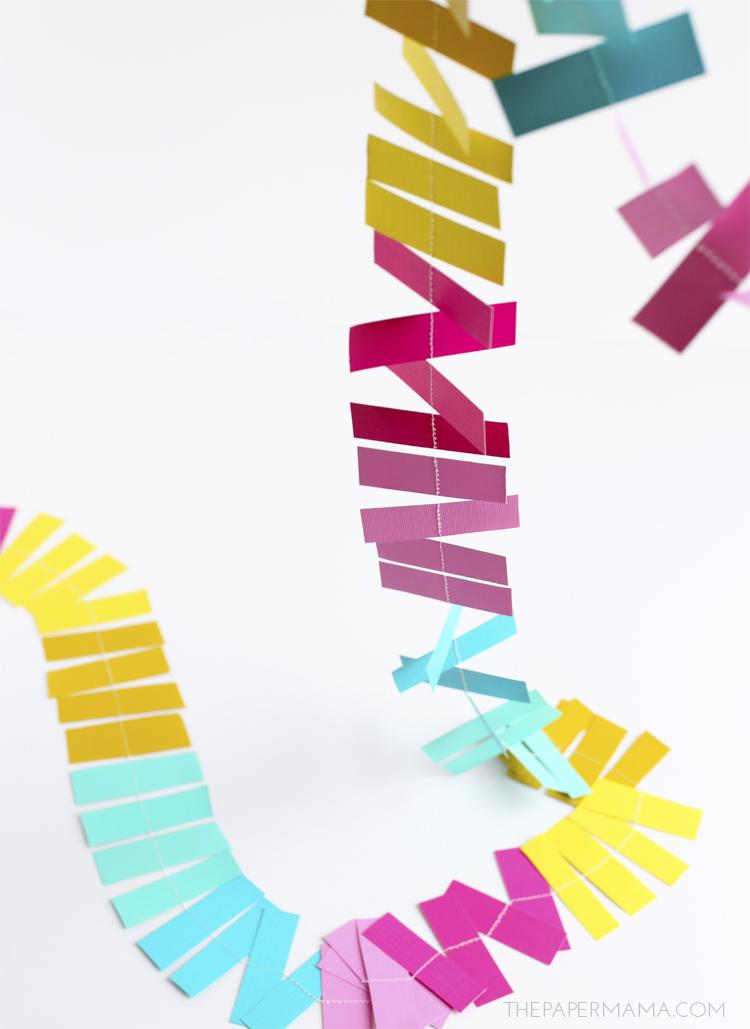 Sprinkles Paper Strip Garland and Backdrop