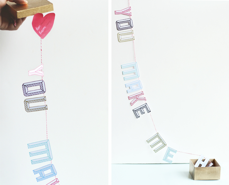 Handmade Gift: You Make Me Happy Garland Mail