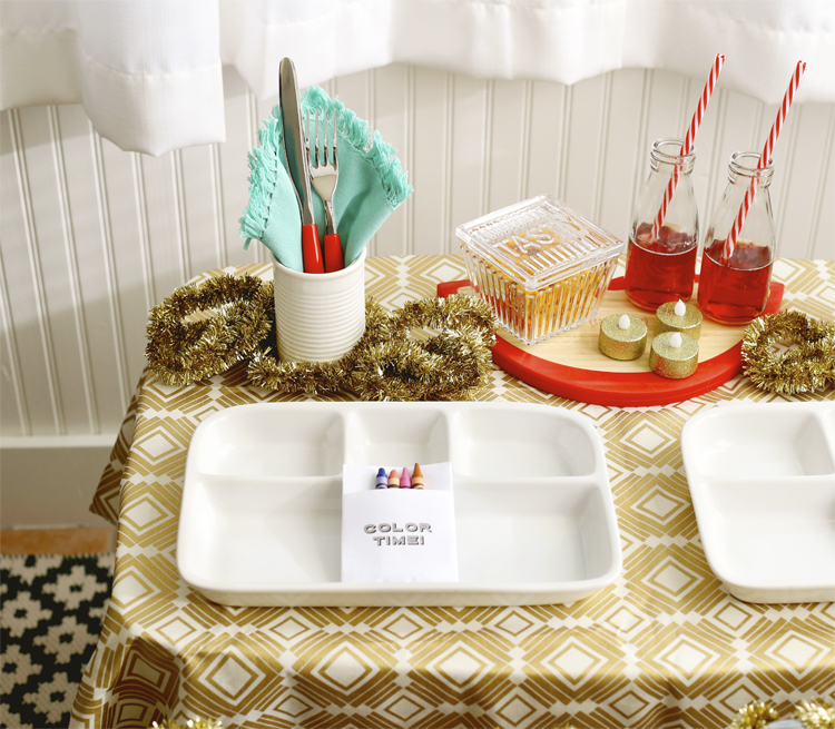Kids Holiday Tablescape Idea