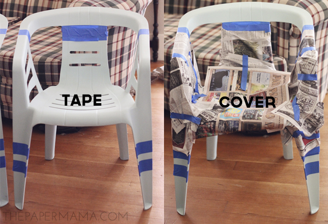 outdoor chair revamp // thepapermama.com
