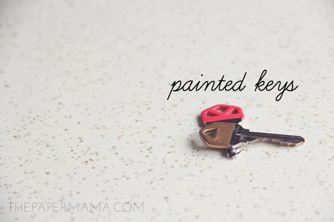 Painted Keys // thepapermama.com