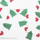 Tree Plus Heart Garland // thepapermama.com