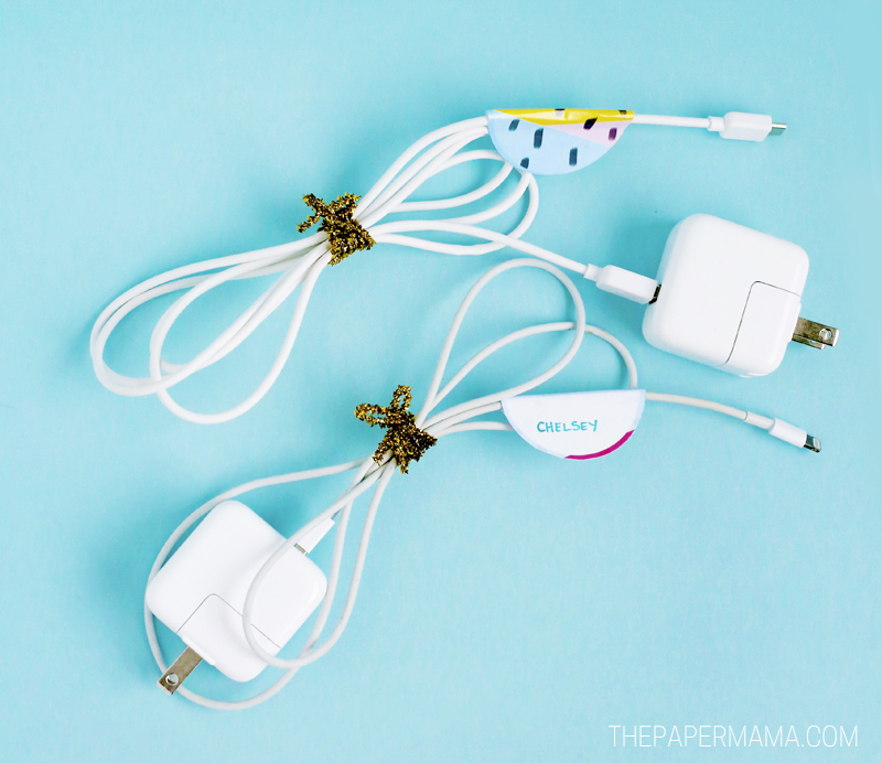 Pretty Labels to Organize Power Cords!