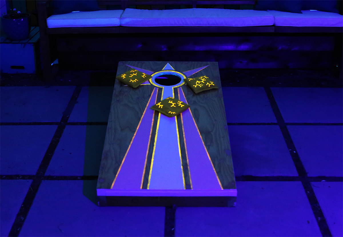 A Fun Outdoor Game DIY: Glow-in-the-Dark Cornhole Set