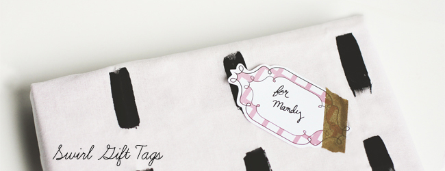 Day 18: Swirl Gift Tag Printables