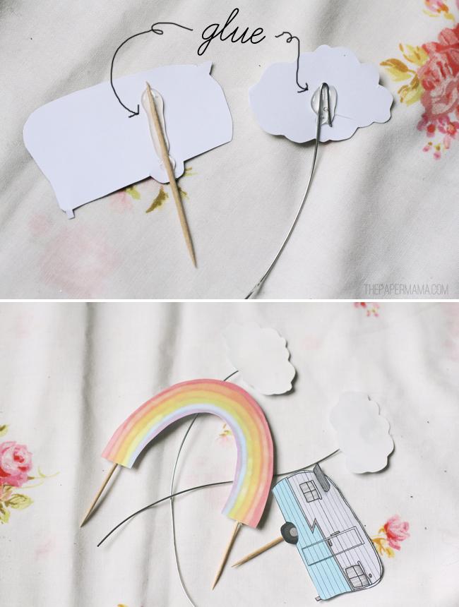 Rainbow Paper Terrarium // thepapermama.com