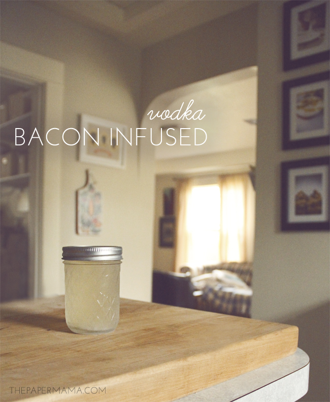 bacon vodka // thepapermama.com