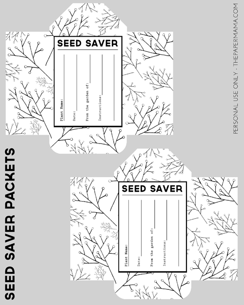 Seed Saver Packet Printable // thepapermama.com