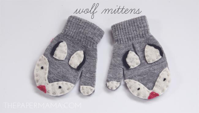Wolf Mitten DIY
