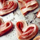 Heart Shaped Bacon for Valentines Day from The Paper Mama