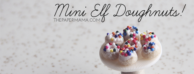 Day 29 of 50 DIY Days of Christmas: Mini Elf Doughnuts // thepapermama.com