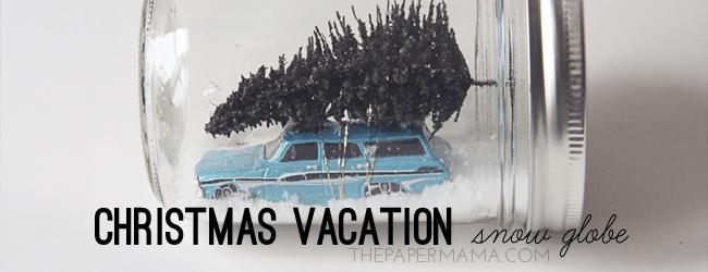 Day 35 of 50 DIY Days of Christmas: Christmas Vacation Snow Globe // thepapermama.com