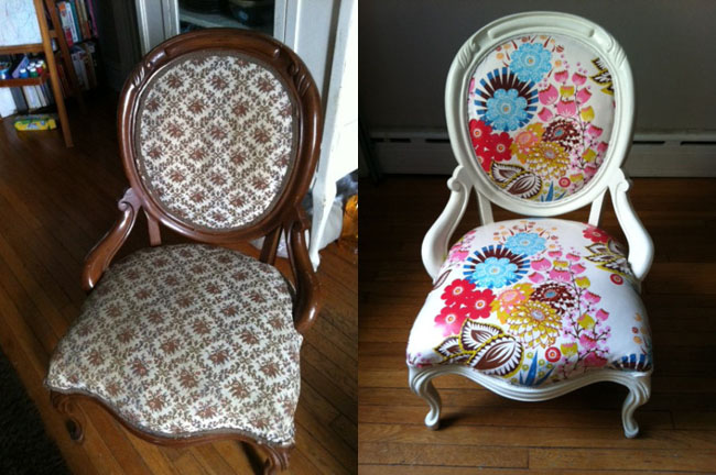 http://darlingoctopus.wordpress.com/2011/08/03/make-me-pretty-a-victorian-chair-made-kid-friendly/