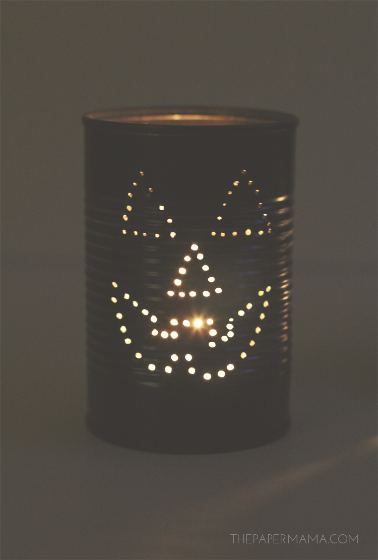 Spooky Tin Can Lantern
