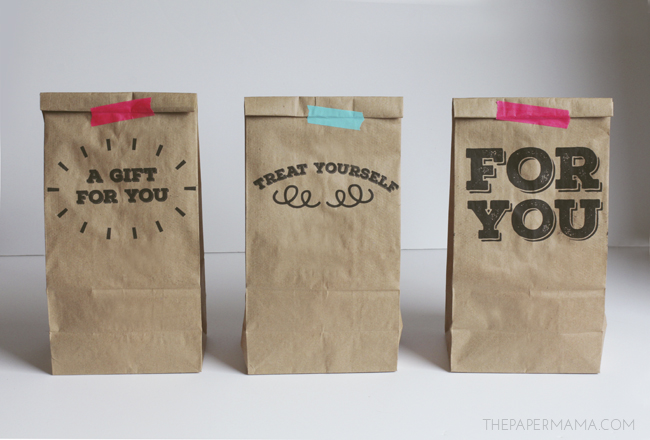 photo relating to Printable Paper Bags referred to as Printable Paper Sack Reward Luggage