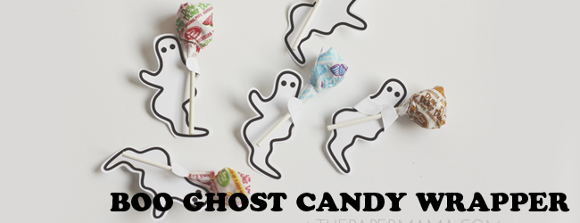 Boo Ghost Candy Wrappers