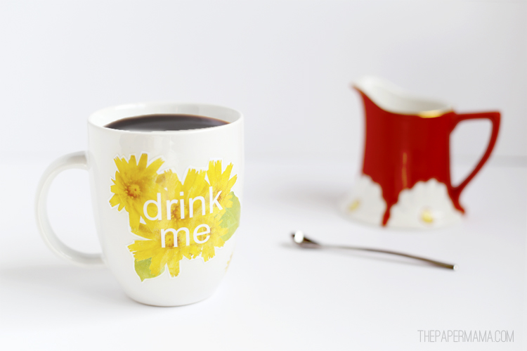 Floral Coffee Mug DIY