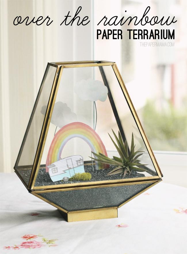 Over The Rainbow Paper Terrarium // thepapermama.com