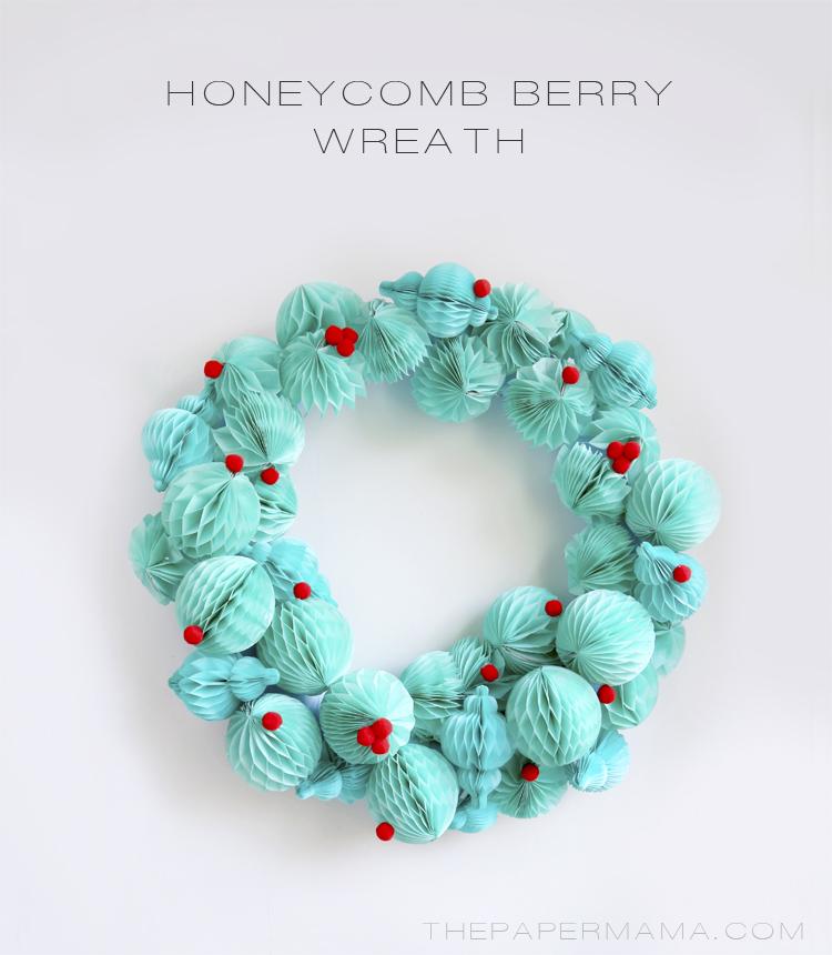 DIY-ify: Honeycomb Berry Wreath DIY