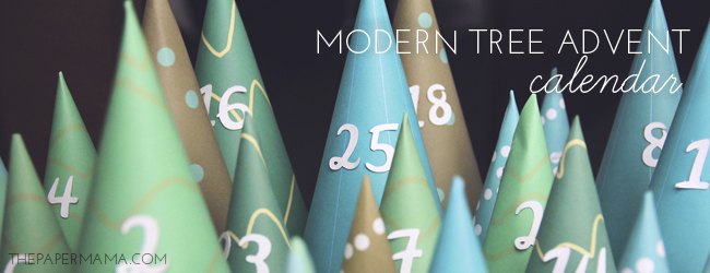 Day 25 of my 50 DIY Days of Christmas: Modern Tree Advent Calendar // thepapermama.com