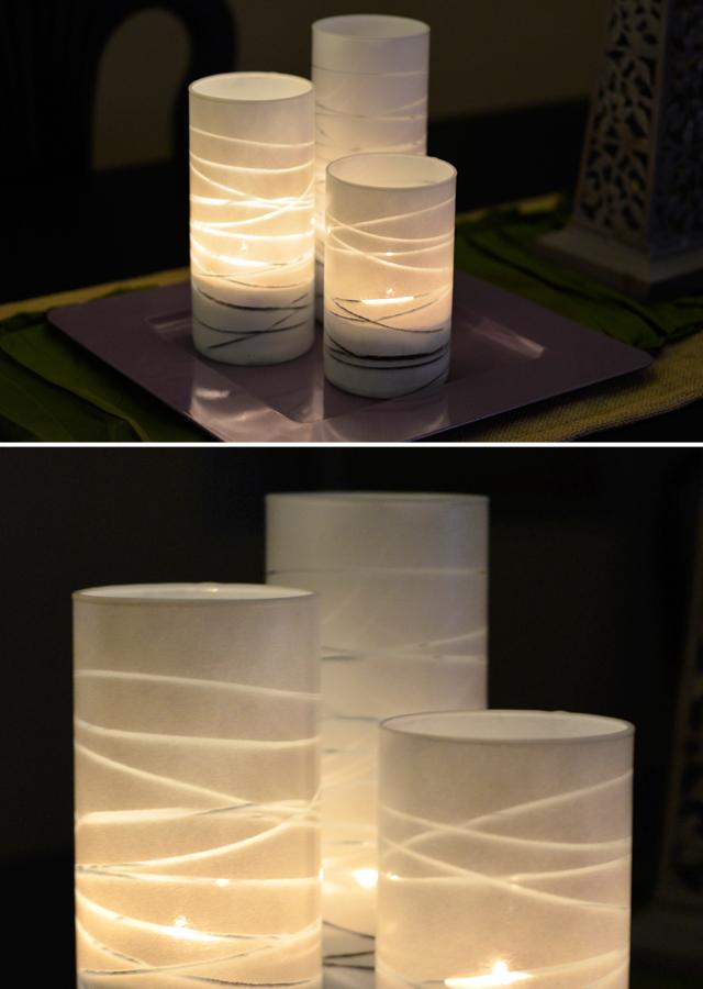 Easy Striped Vase DIY