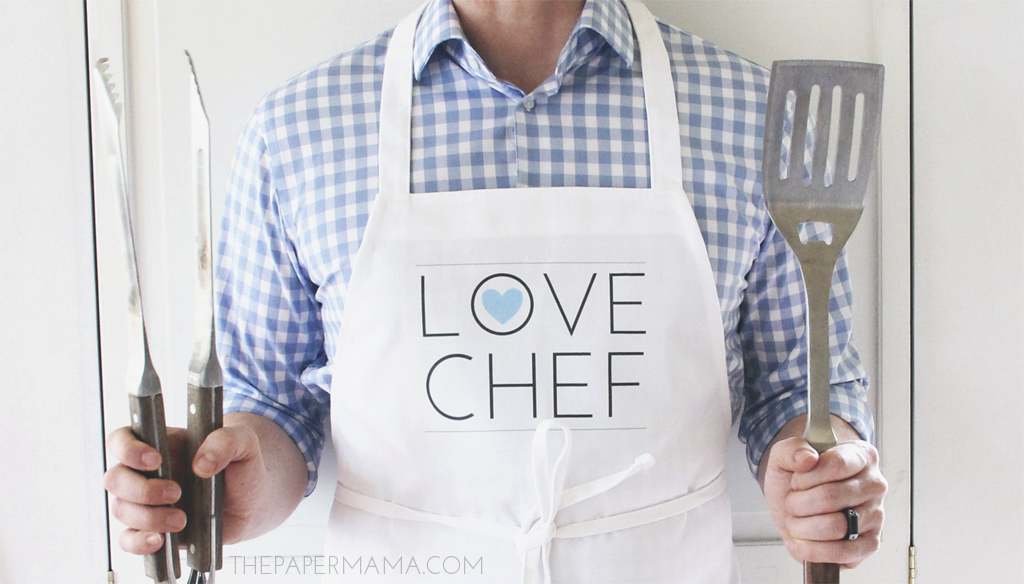 Love Chef Apron DIY (with free printable)