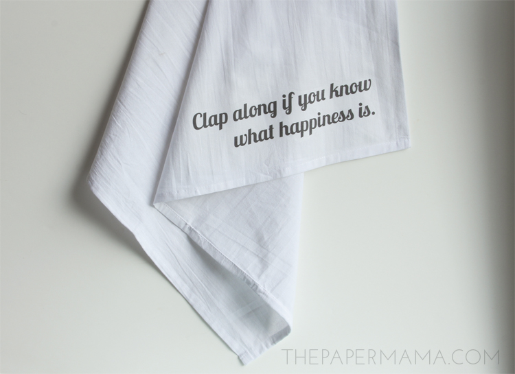 Happy Tea Towel DIY