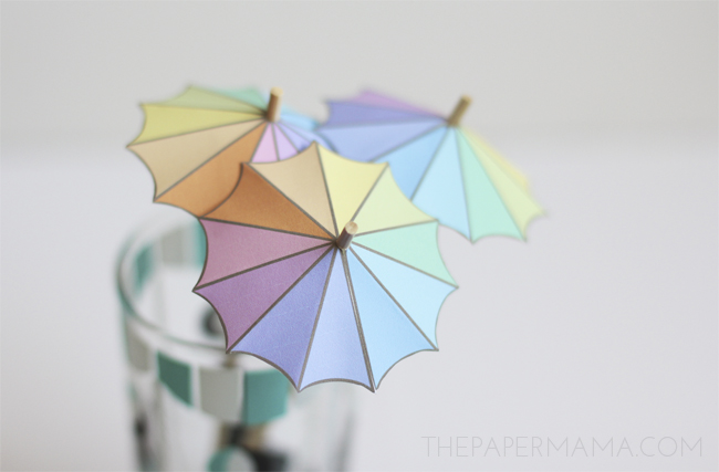 Drink Umbrella Stirrer With Free Printable Thepapermama