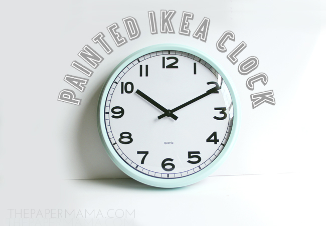 Painted Ikea Clock DIY // thepapermama.com