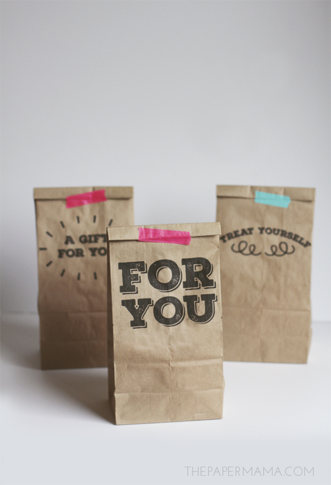 Sassy image inside printable paper bags