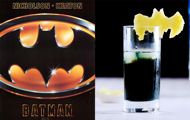 Watch Batman and decorate your drinks with the cute Batman Pineapple Cocktail Decor (on Malicia Flore).