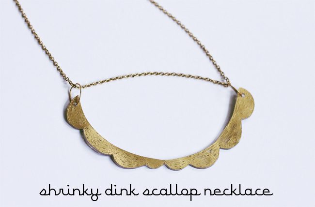 Shrinky Dink Scallop Necklace DIY