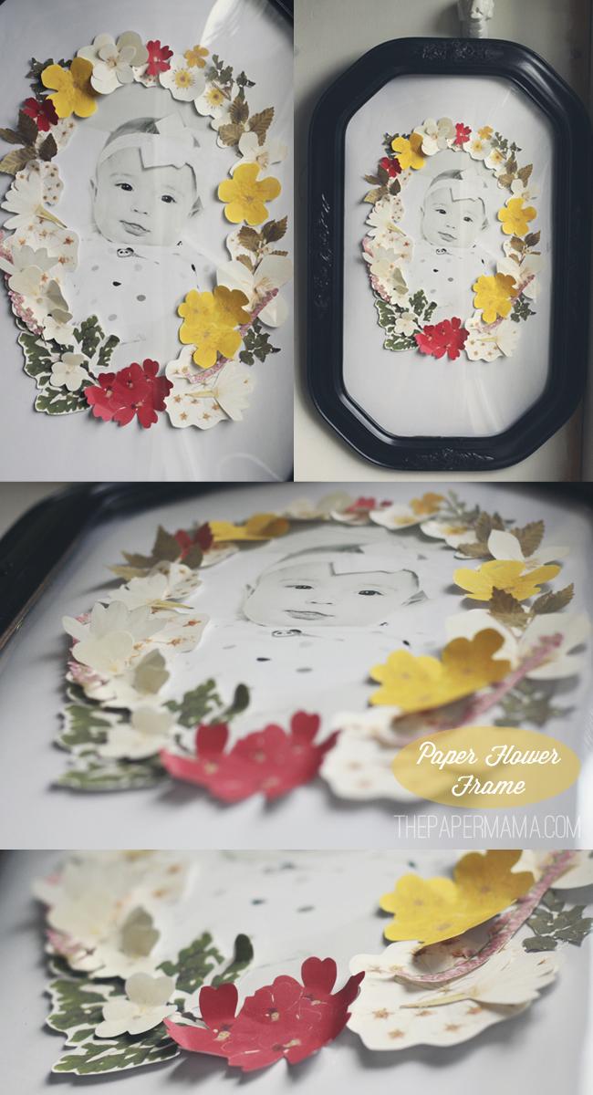 Pressed Flower Frame Gift // thepapermama.com