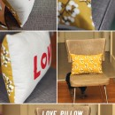 Love Pillow from the paper mama