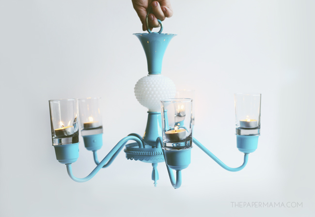 Chandelier Candle Holder Makeover