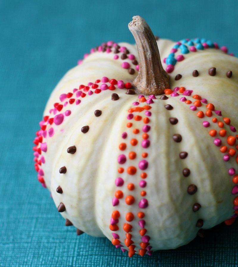 Puffy Paint Pumpkin